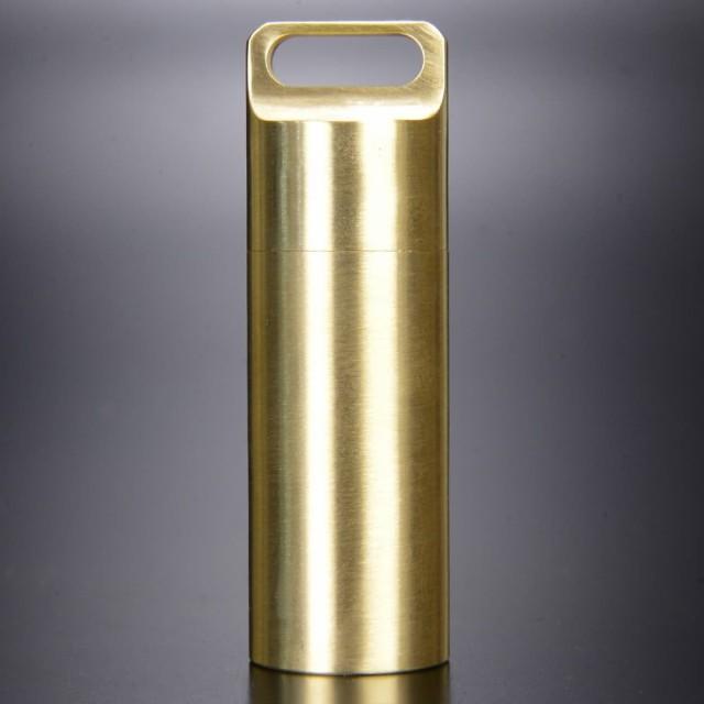 防水カプセル 真鍮 ペンダントトップ 薬ケース [ ...