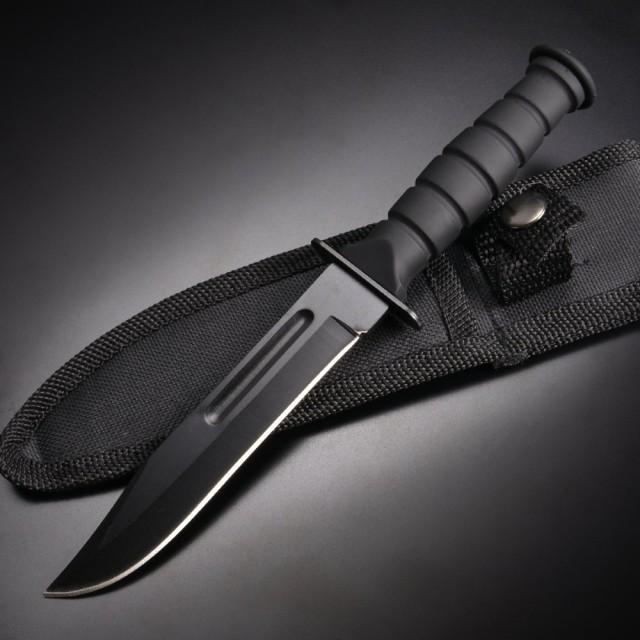 アウトドア用 ミニナイフ 3CR13鋼 ラバーハンドル...
