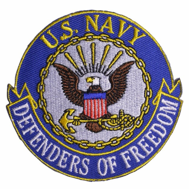 ミリタリーワッペン U.S. NAVY 紋章 アメリカ海軍...