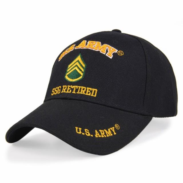 U.S.ARMY キャップ 米軍階級章 二等軍曹 Retired...