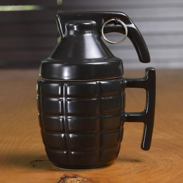 MK2 手榴弾型 マグカップ ふた付 [ ブラック ][re...