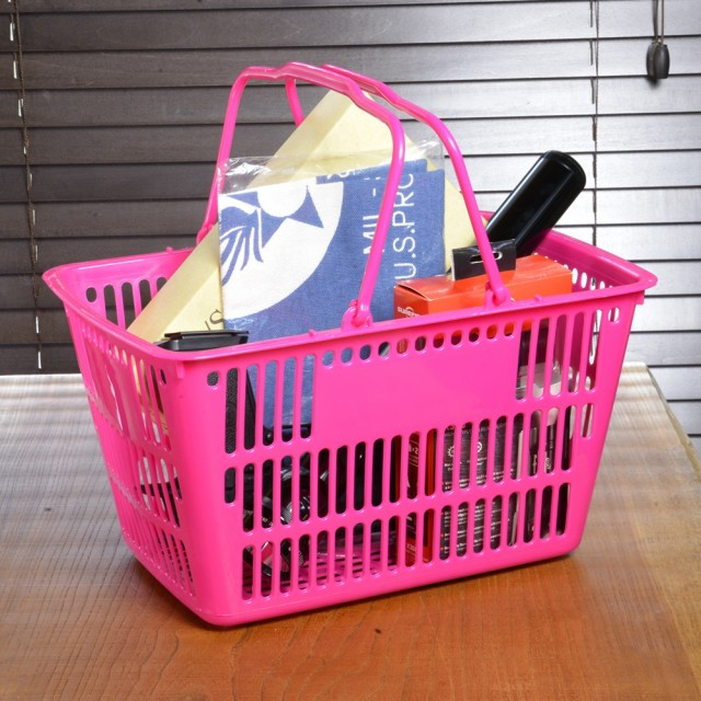 買い物カゴ ミニサイズ 11L [ ピンク ][rev28912]...