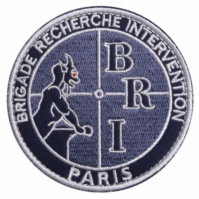ミリタリーワッペン BRI フランス国家警察 黒豹 ...