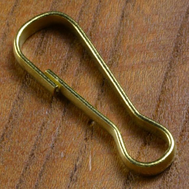 真鍮パーツ 板ナスカン キーホルダー金具 [ 31mm ...