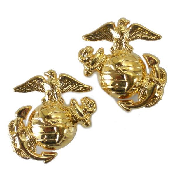 Rothco ミリタリーバッジ 海兵隊紋章 2個 1548 ネ...
