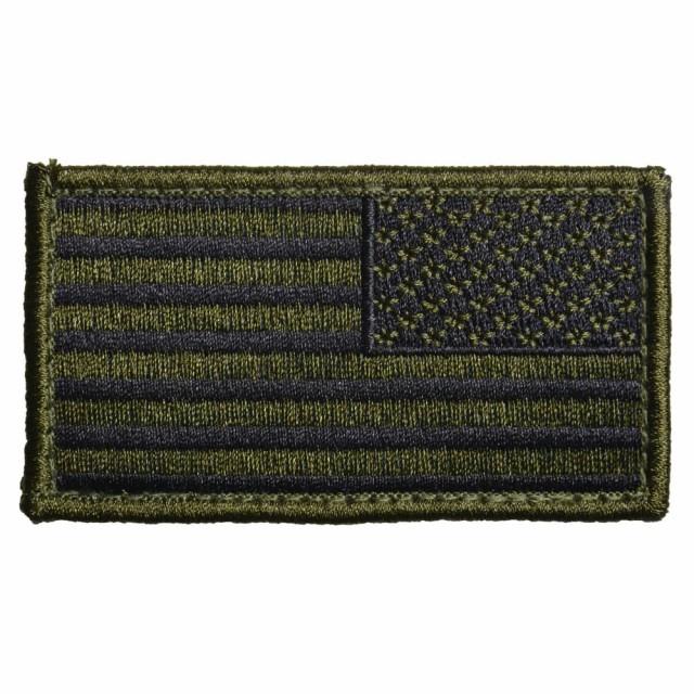 ロスコ ミリタリーワッペン 星条旗 [ ブラック&OD...