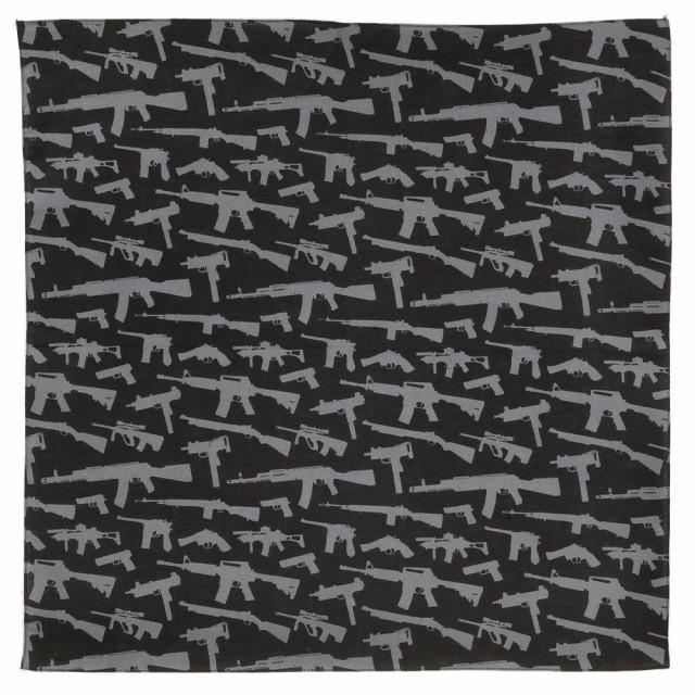 ROTHCO バンダナ 銃 4099 55cm角 [ ブラック ][ro...