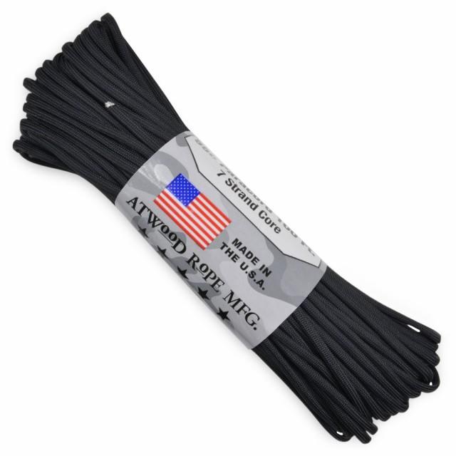 ATWOOD ROPE 550パラコード タイプ3 ブラック[s01...