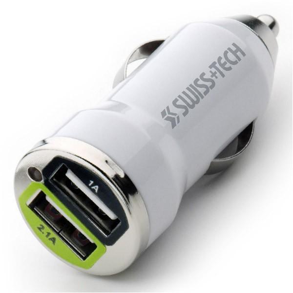 SWISS+TECH シガーソケット USBアダプター デュア...