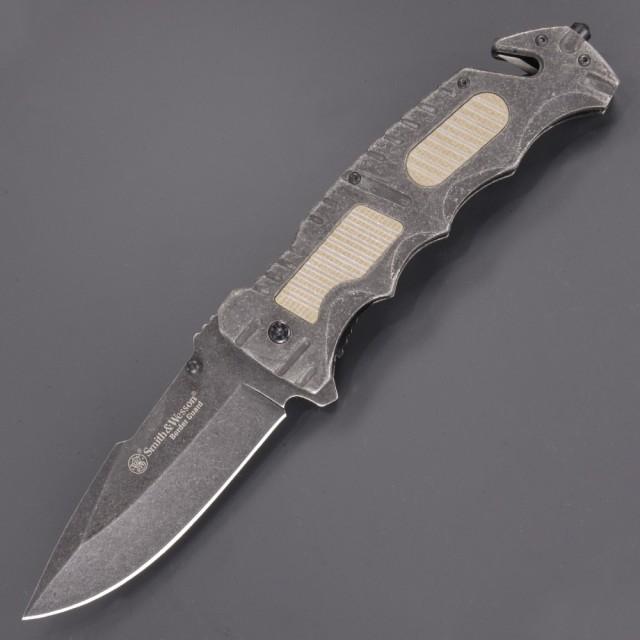 S&W レスキューナイフ SWBG7 ボーダーガード 直刃...