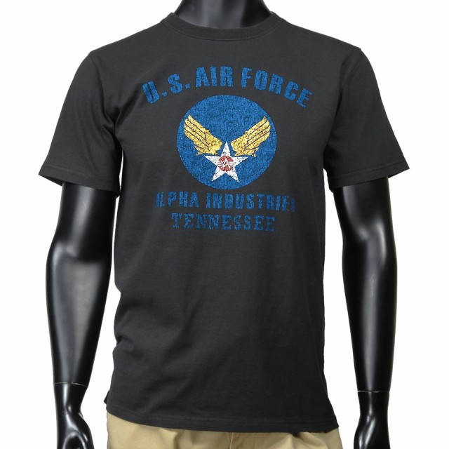 ALPHA 半袖Tシャツ ロゴ AIR FORCE TC1041 [ ブラ...
