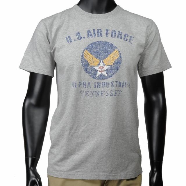 ALPHA 半袖Tシャツ ロゴ AIR FORCE TC1041 [ グレ...