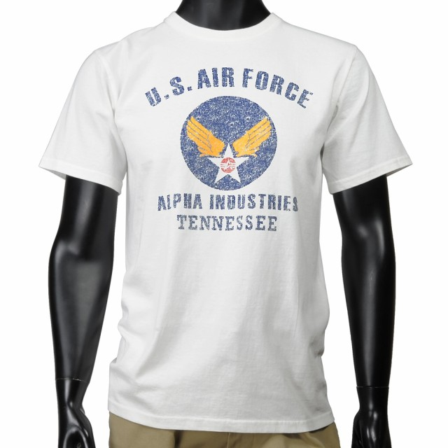 ALPHA 半袖Tシャツ ロゴ AIR FORCE TC1041 [ ホワ...