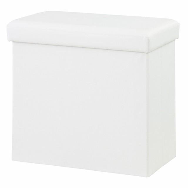 ボックススツール オットマンテーブル ホワイト a...