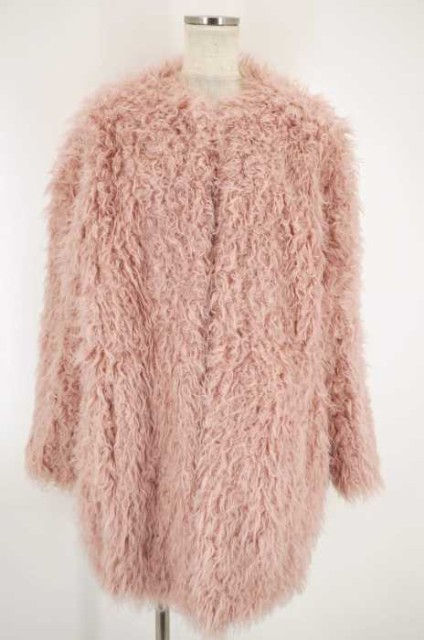 moussy(マウジー) 16AW NO COLLAR FUR COAT  ...