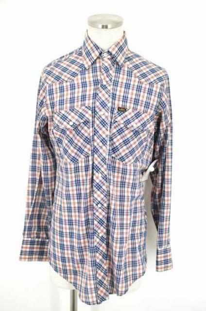 Lee(リー) チェック柄スナップボタンシャツ 15×3...