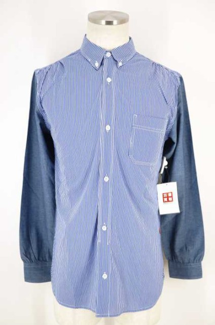 INHERE () ストライプ柄ボタンシャツ サイズ[L] ...