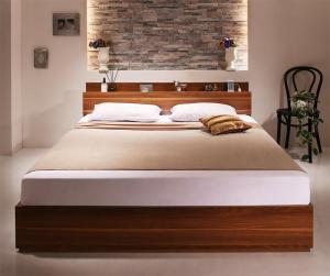 ベッドフレーム 収納ベッド ダブル マットレス付...
