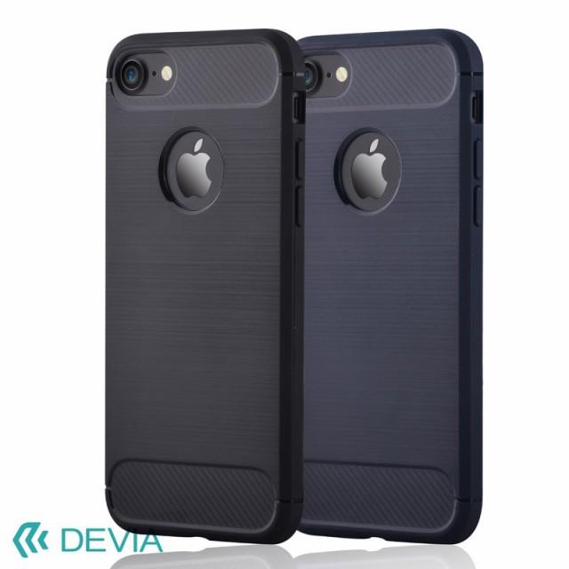iPhone8 / 7 用 ケース カーボン調 デザインで滑...