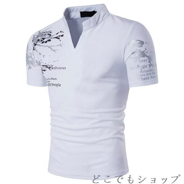 Tシャツ メンズ プリント シャツ ゴルフウェア ロ...
