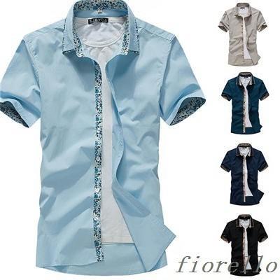 夏新品 メンズ半袖シャツ カジュアルシャツ 半袖...