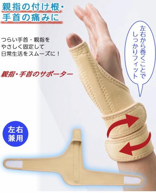 装着簡単!左右兼用の親指・手首サポーター