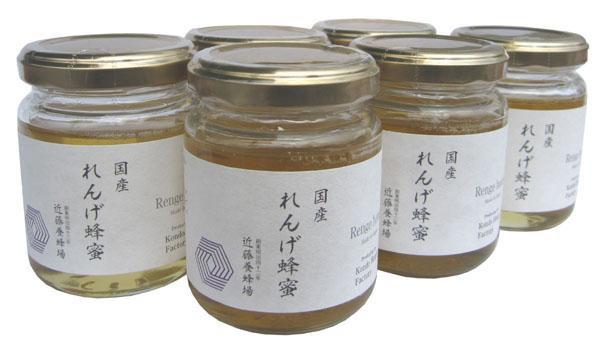 近藤養蜂場 国産れんげ蜂蜜 140g×6個セット ...