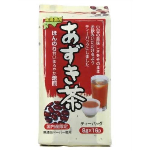 健茶館 あずき茶ティーバッグ 8g×16袋
