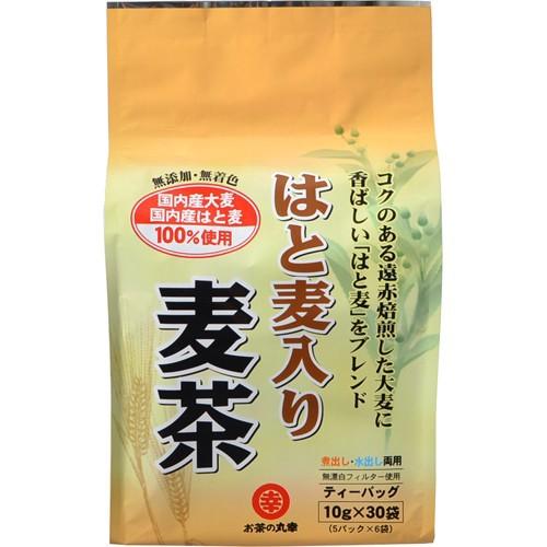 お茶の丸幸 国産はと麦入り麦茶 ティーバッグ 10g...
