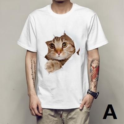 カットソー かわいい レディース メンズ 猫 Tシャ...