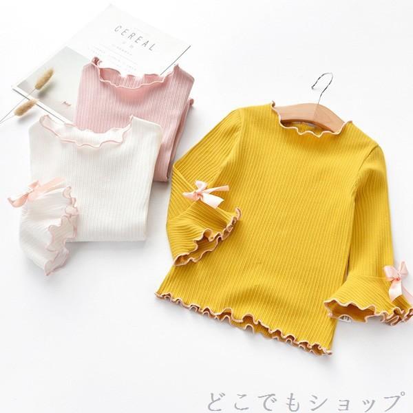 韓国子供服 ◇長袖トップス◇リボン プルオーバー...