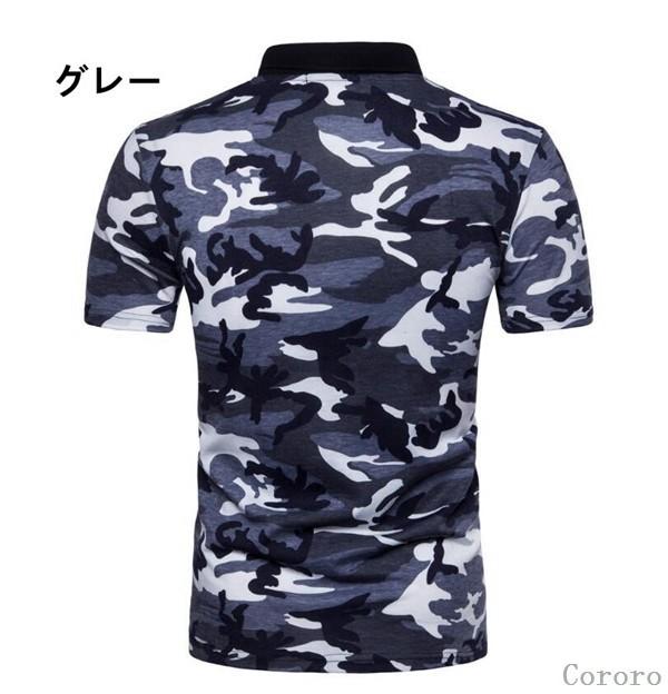 ポロシャツ ポロ polo メンズtシャツ メンズ 迷彩...