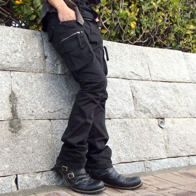 送料無料 ブーツ メンズ 2連ベルト ドレープ ショ...