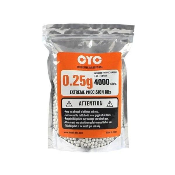 CYC 精密6mmBB弾 0.25g/4000発入 (プラスティック...