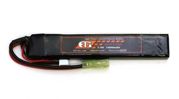 【ET1】バッテリー:LIPO R 7.4v 1400mAh(レッド...
