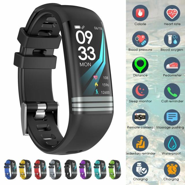 女性男性Fitbit Android iOS用フィットネストラッ...