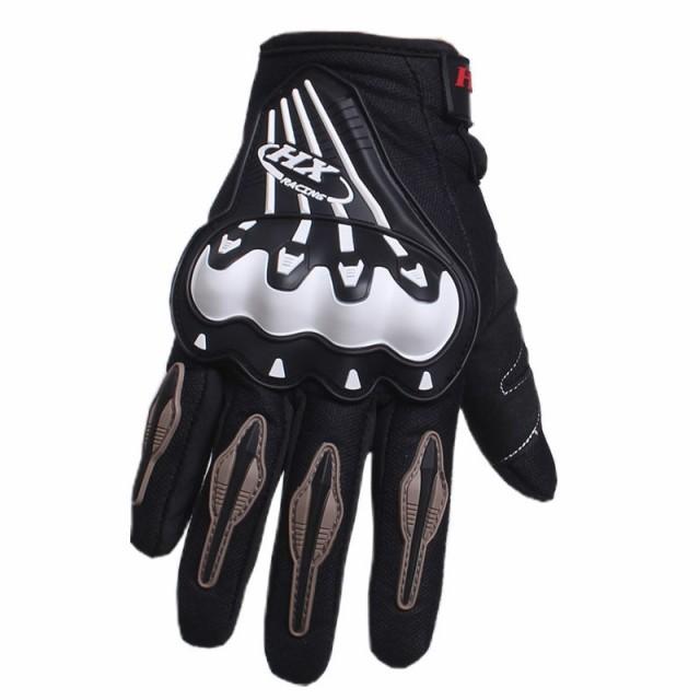 メンズ3Dオートバイメッシュ手袋フルフィンガー人...
