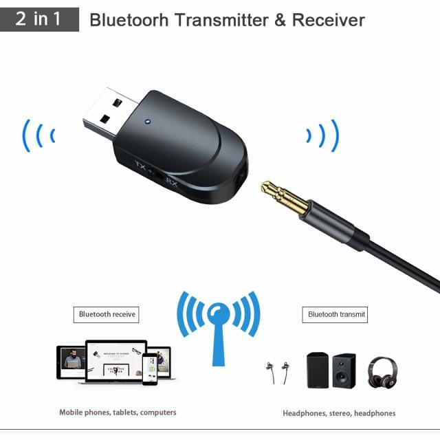Bluetooth 5.0オーディオレシーバートランスミッ...