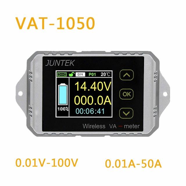 Juntek VAT1050ワイヤレス電圧電流計100V 50Aカー...