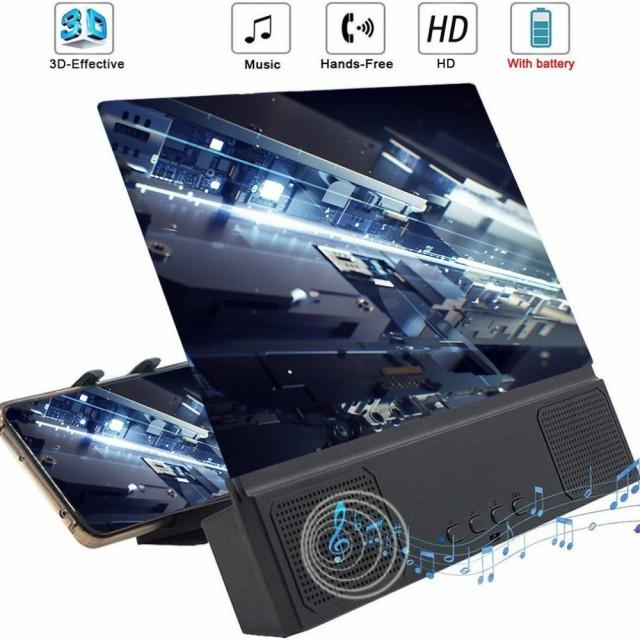 12インチ3D HD電話スクリーン拡大鏡デスクトップ...