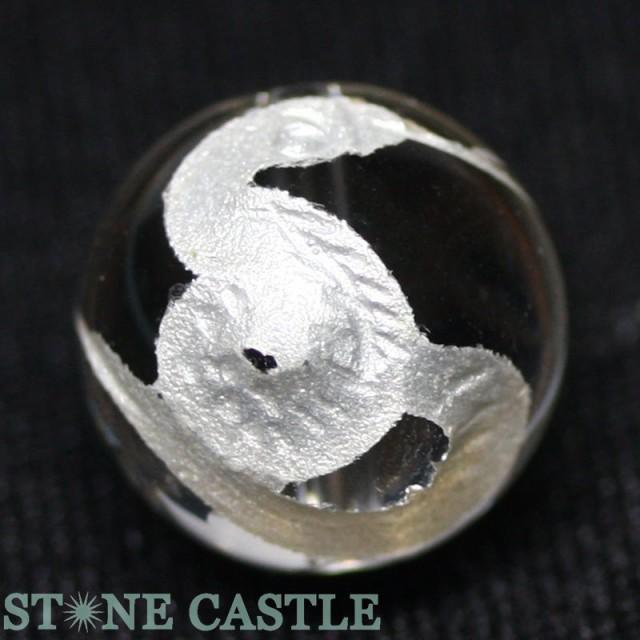 天然石 ビーズ【彫刻ビーズ】水晶 12mm (白彫り) ...