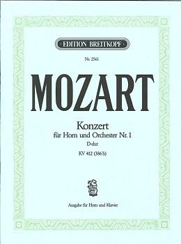 楽譜 モーツァルト : ホルン協奏曲 第1番 ニ長調 ...
