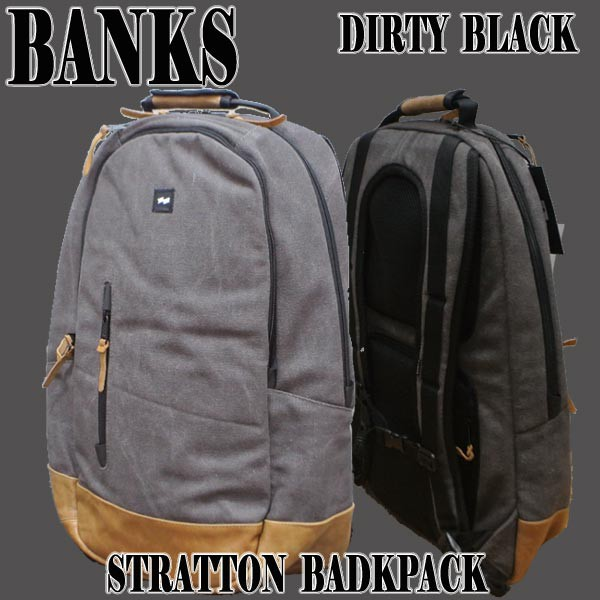 BANKS/バンクス STRATTON BACKPACK DIRTY BLACK ...