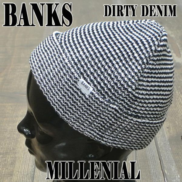 BANKS/バンクス MILLENIAL BEANIE DIRTY DENIM ボ...