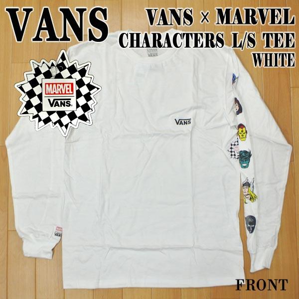 VANS/バンズ VANS×MARVEL CHARACTERS L/S TEE WH...