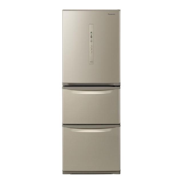 基本設置無料 東京23区近郊限定配送 パナソニック 335L 右開き 3ドア 冷蔵庫 NR-C340C-N シルキーゴールド Panasonic NRC340C