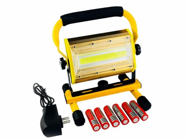 COB LED投光器 100W 充電式 作業灯 3モード調節 ...