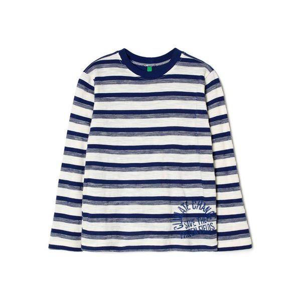 ベネトン キッズ(UNITED COLORS OF BENETTON)/KIDSショルダー切り替えボーダー柄Tシャツ・カットソー