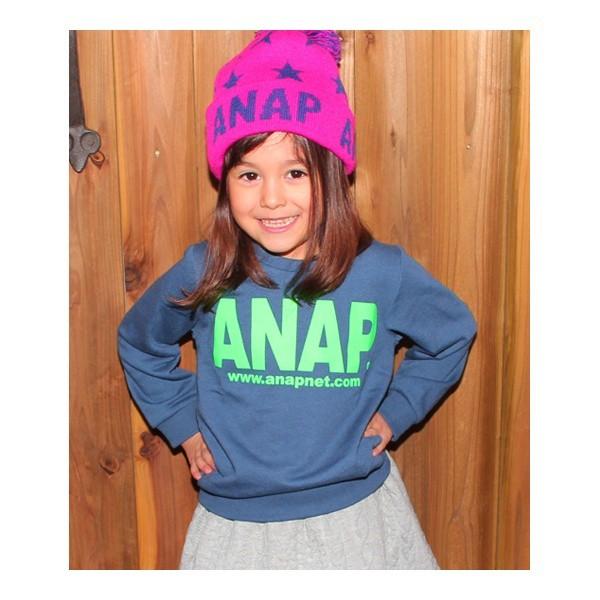 【NEW】アナップキッズ&ガール(ANAP KIDS&GIRL)/アドレスロゴトレーナー