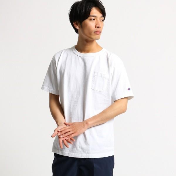 オペークドットクリップ(メンズ)(OPAQUE.CLIP Mens)/【Champion】コットンポケットTシャツ<MEN>